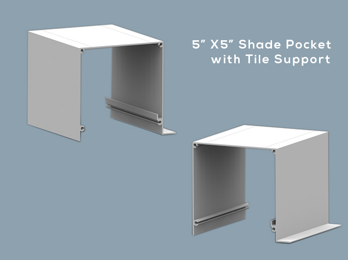 5 Quot X 5 Quot Shade Pocket With Tile Support Wt Shade