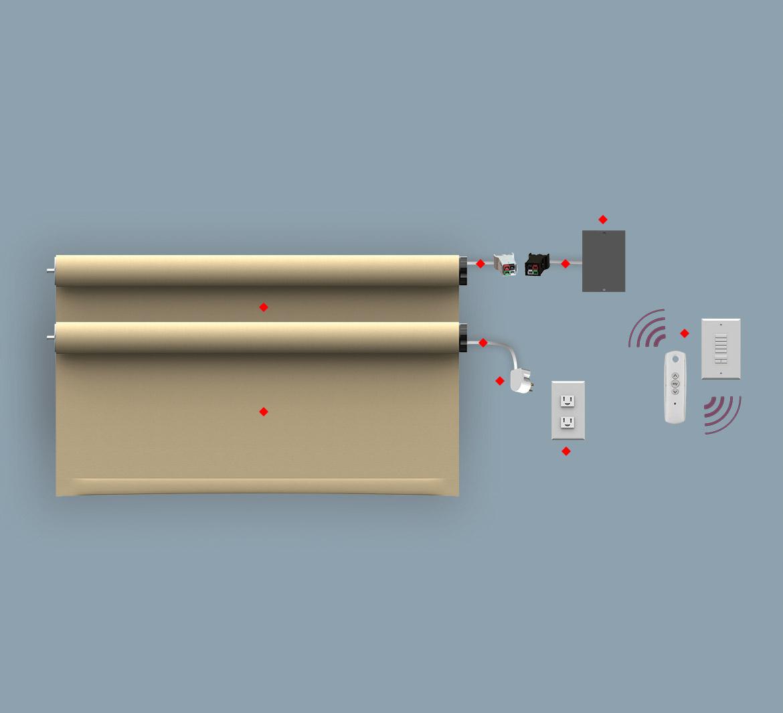 Rts 120v Line Voltage Wt Shade Motor Wiring Diagram Motorise Shading System