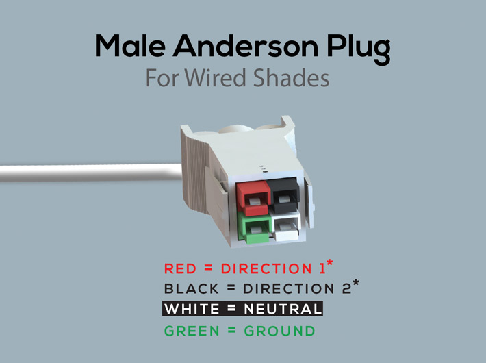 Wired 120V Line Voltage (for 3+ motors) - WT Shade